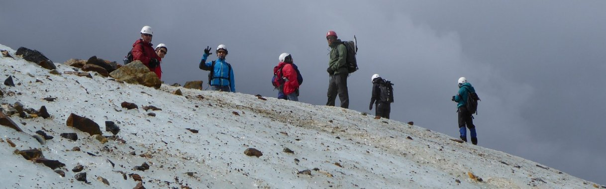 Glacier hiking, an experience of alifetime